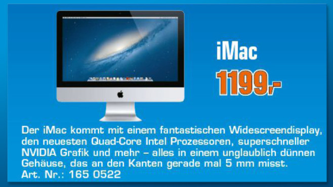 "Apple iMac 21,5"" (MD093D/A) © Saturn"