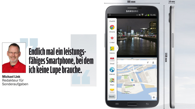 Samsung Galaxy Mega 6.3 ©COMPUTER BILD