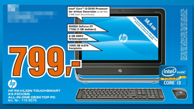 Hewlett-Packard HP Pavilion Touchsmart 23-f200eg © Saturn