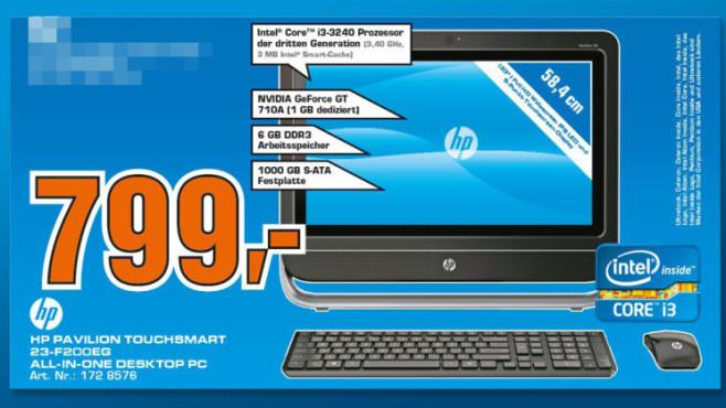 Hewlett-Packard HP Pavilion Touchsmart 23-f200eg ©Saturn