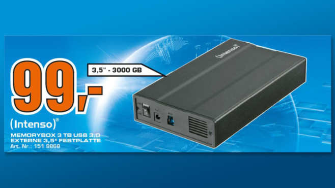 Intenso Memory Box USB 3.0 3TB © Saturn