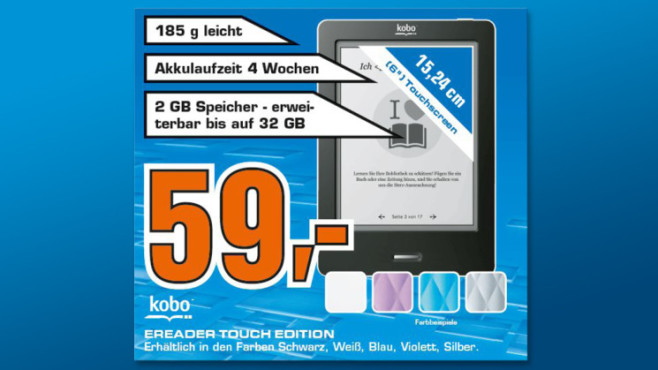 Kobo eReader Touch © Saturn