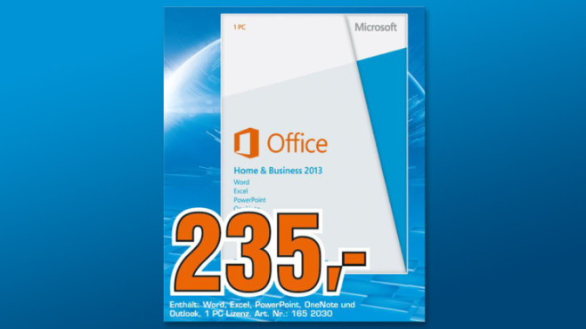 Microsoft Office 2013 Home and Business (DE) (Win) (PKC) ©Saturn