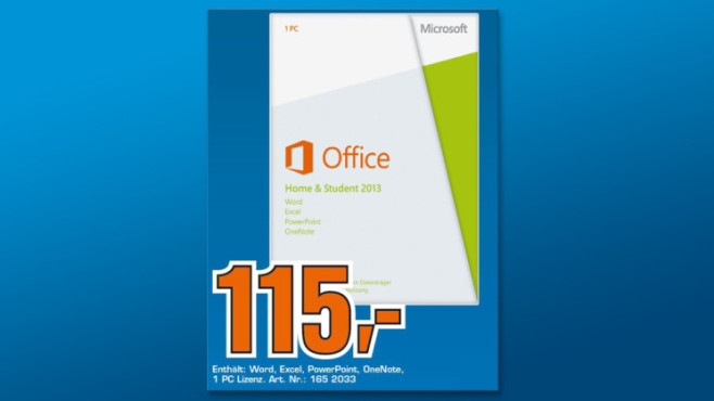 Microsoft Office 2013 Home and Student (DE) (Win) (PKC) ©Saturn