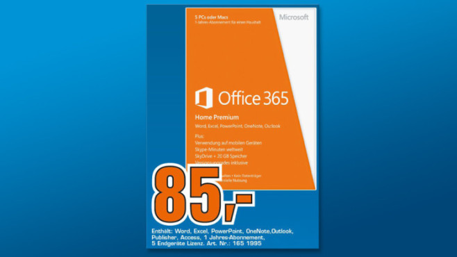 Microsoft Office 365 Home Premium (DE) (Win/Mac) (PKC) (1 Jahr) © Saturn