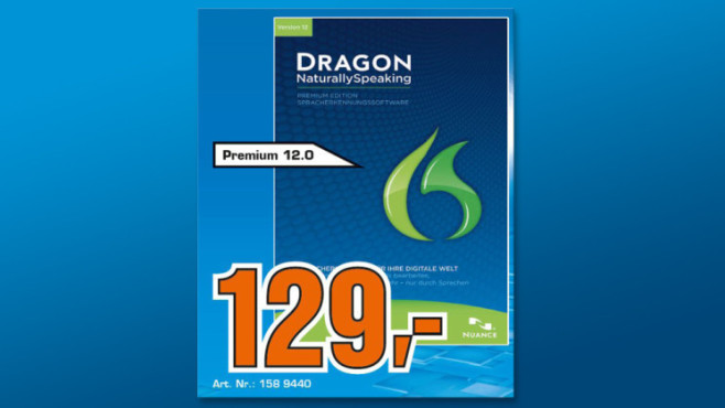 Nuance Dragon Naturally Speaking 12 Premium (DE) (Win) (Box) © Saturn