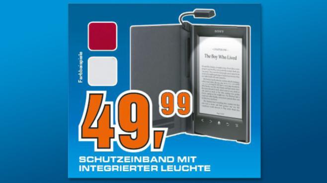 Sony Standard-Cover mit Leseleuchte für Reader PRS-T1/T2 ©Saturn