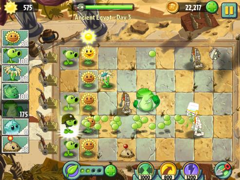 Strategiespiel Pflanzen gegen Zombies 2: Ägypten ©Electronic Arts