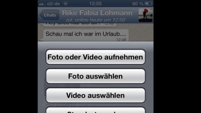 Bilder per WhatsApp verschicken: Schritt 2 ©COMPUTER BILD