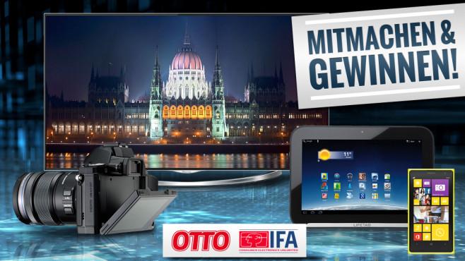 Die OTTO-Technik-Highlights ©DrHitch - Fotolia.com, Hisense, Olympus, Medion, Nokia, OTTO, Messe Berlin GmbH