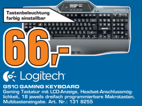 Logitech Gaming Keyboard G510 DE © Saturn
