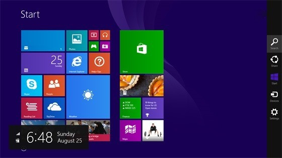 Metro-Oberfl�che von Windows 8.1 RTM © winsupersite.com