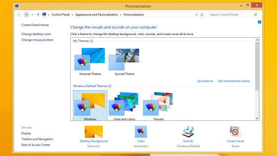 Personalisierung von Windows 8.1 RTM ©winsupersite.com