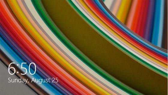 Sperrbildschirm von Windows 8.1 RTM ©winsupersite.com
