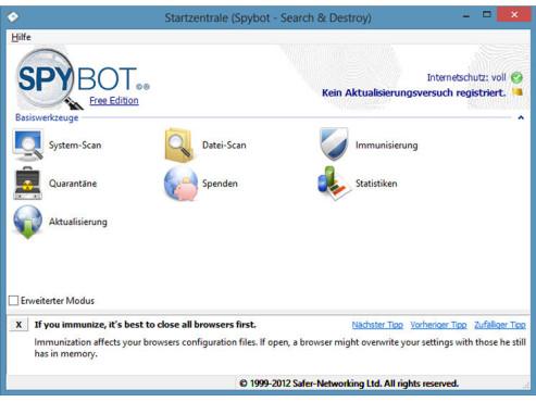 Spybot � Search & Destroy ©COMPUTER BILD