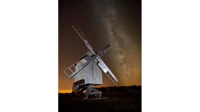 Bockwindmühle mit der Milchstraße – von: Daniel-MHL ©Daniel-MHL