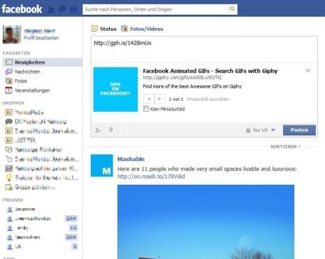 GIF bei Facebook einfügen ©COMPUTER BILD