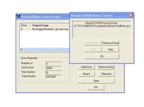 Virtual CD-ROM Control Panel
