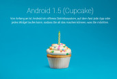 Android 1.5 Cupcake © Google