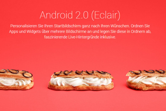 Android 2.0 Eclair ©Google