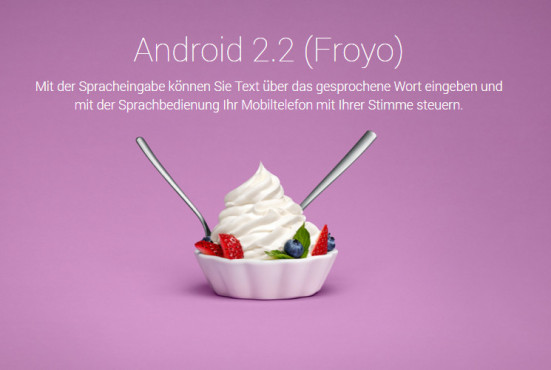 Android 2.2 Froyo © Google