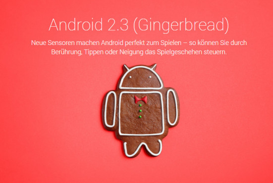 Android 2.3 Gingerbread © Google