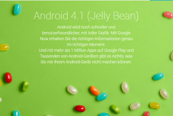 Android 4.1 Jelly Bean © Google