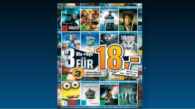 Diverse Blu-ray-Filme ©Saturn
