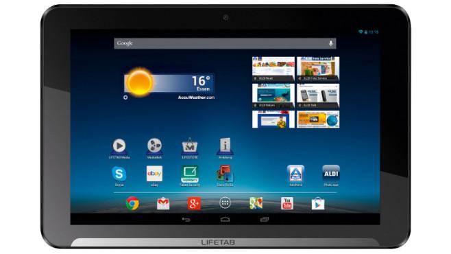Medion Lifetab E10312 (MD 98486) Tablet-PC, erhältlich bei Aldi Nord und Süd ©Medion