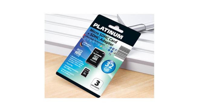 Platinum Micro SDHC Card + SDHC-Adapter, erhältlich bei Aldi Süd ©Aldi Süd