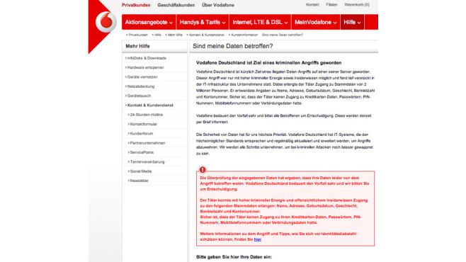 Vodafone-Server gehackt ©Vodafone