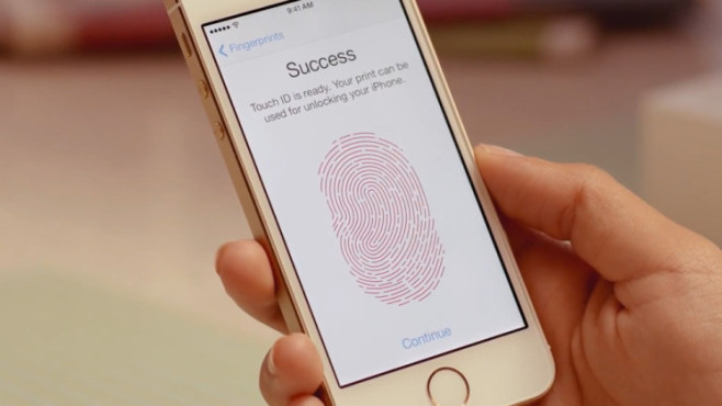 Apple iPhone 5S Touch ID Anlernen © Apple