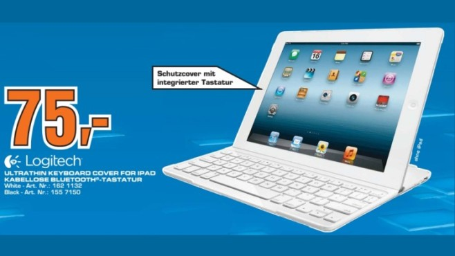 Logitech Ultrathin Keyboard Cover für iPad © Saturn