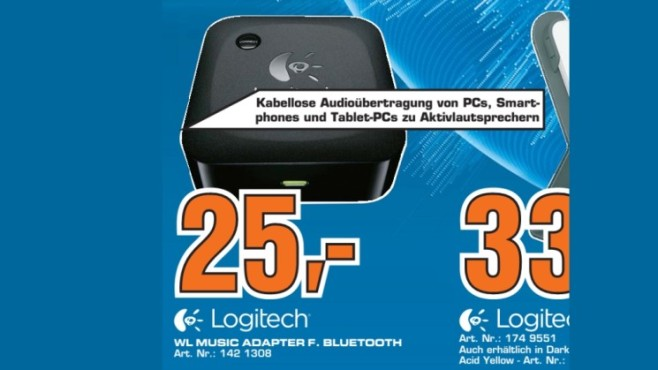 Logitech Wireless Speaker Adapter © Saturn