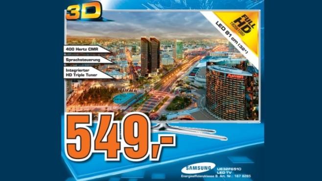 Samsung LED-Fernseher (UE32F6510) ©Saturn