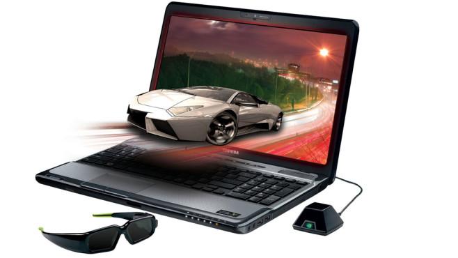 Toshiba.Notebook mit 3D-Wiedergabe ©Toshiba, Nvidia