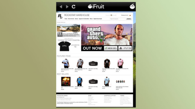 Anwendung GTA 5 – iFruit: Shop ©Rockstar Games
