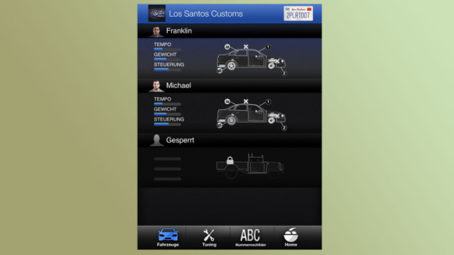 Anwendung GTA 5 – iFruit: Tuning ©Rockstar Games