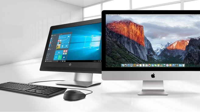 All-in-One-PCs im �berblick © Max Krasnov - Fotolia.com, Apple, HP