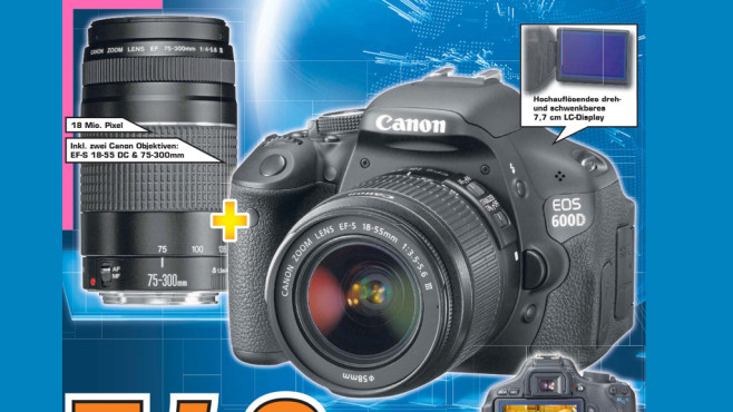 Canon EOS 600D Kit 18-55 mm + 75-300 mm ©Saturn