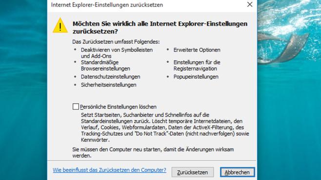 Browser-Reparatur: So setzen Sie den Internet Explorer zurück ©COMPUTER BILD