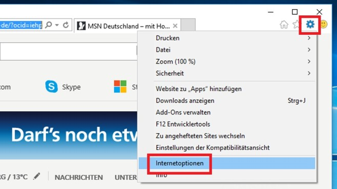 So setzen Sie den Internet Explorer zurück ©COMPUTER BILD