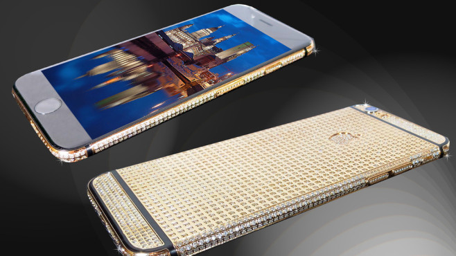 18kt Gold iPhone 6 Unique Brilliance Edition © Goldstriker, Apple