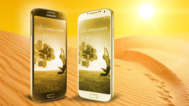 Samsung Galaxy S4 in Gold © Facebook-Screenshot