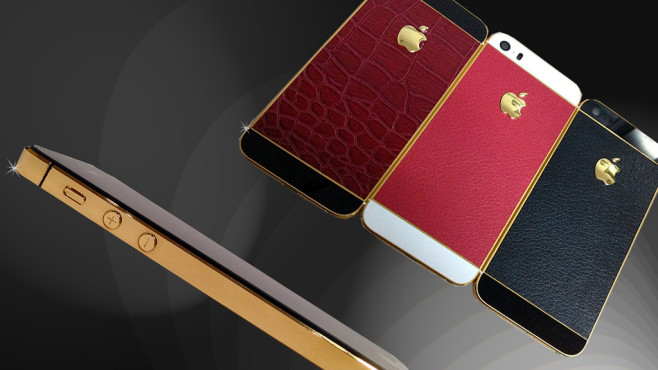 iPhone 5S 24kt Gold & Leather Edition © Goldstriker