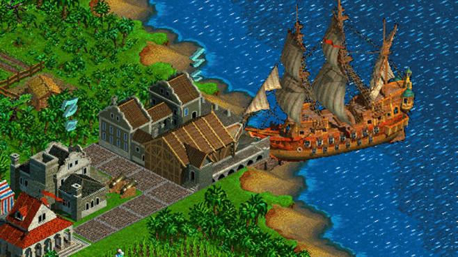Aufbaustrategiespiel Anno 1602: Schiff ©Sunflowers