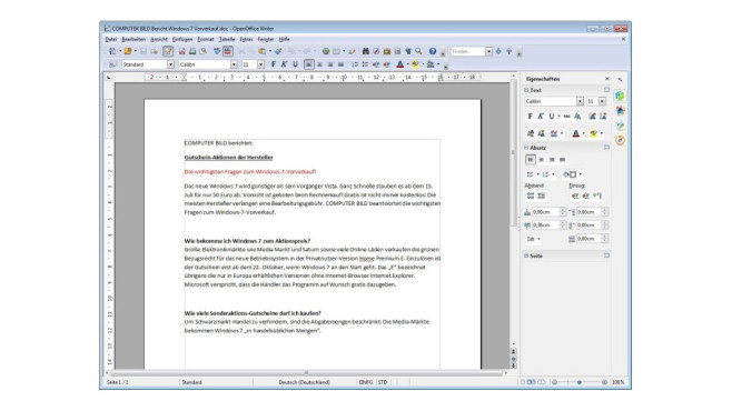 PDF Import for Apache OpenOffice © COMPUTER BILD