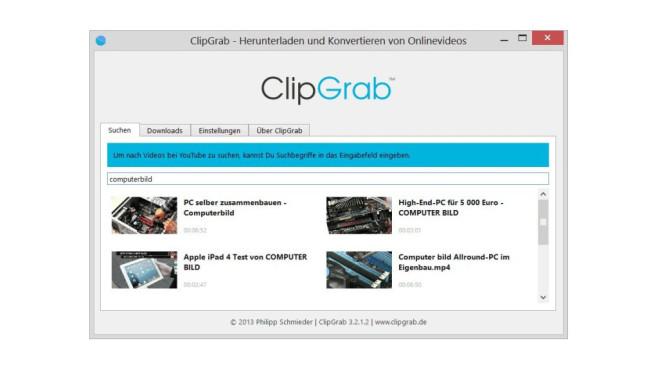ClipGrab ©COMPUTER BILD