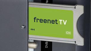 Am 29. März geht das Fernsehen aus – das müssen Sie jetzt tun! Mit dem CI+ Modul von Freenet können für DVB-T2 geeignete Fernseher auch die verschlüsselten Privatsender empfangen. ©Freenet