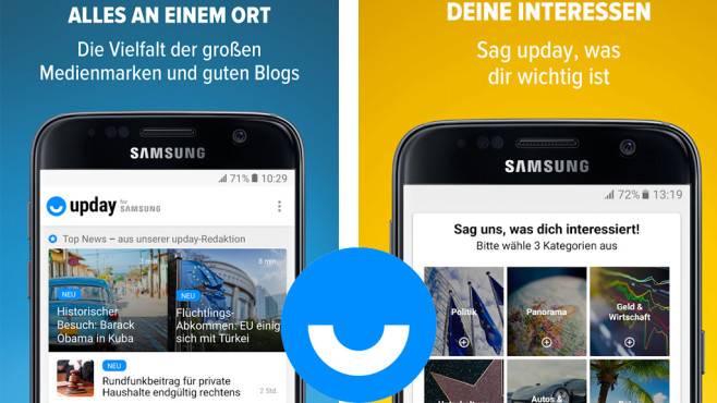 Upday (für Samsung-Geräte) ©Upday